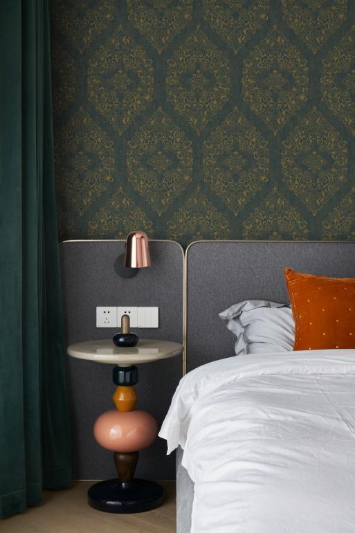 汇明A+墙布打破常规,以鎏金展现美式家装